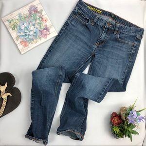 J. Crew Matchstick Jeans medium dark wash 28 short